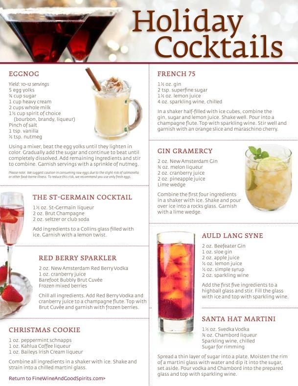 December 2013 Holiday Cocktails by Fine Wine & Good Spirtis