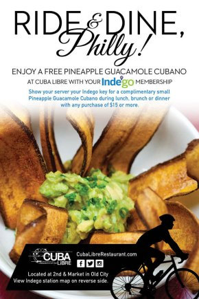 Cuba Libre Restaurant & Rum Bar Launches Dining Partnership with Indego Bike Share
