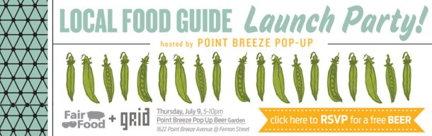 Philadelphia Local Food Guide Launch Party Flyer