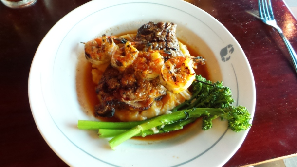 Phillips Seafood Steak and Shrimp Entree