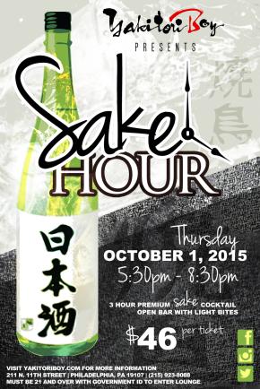 Sake Hour: Yakitori Boy To Celebrate National Sake Day on October1