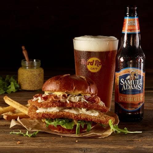 Samuel Adams OctoberFest Schnitzel Burger