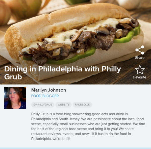 Dining in Philadelphia with Philly Grub