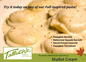 Fall Inspired Pasta by Talluto's