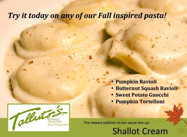 Fall Inspired Pastas at Talluto's