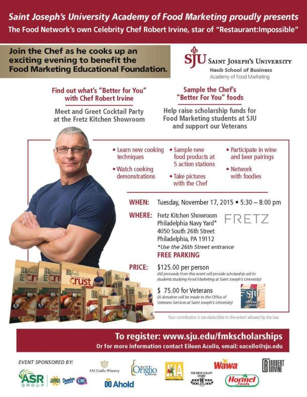 Robert Irvine SJU Food Marketing Fundraiser