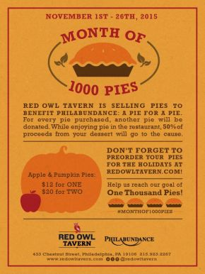 Red Owl Tavern Launches Month of 1000 Pies in November forPhilabundance