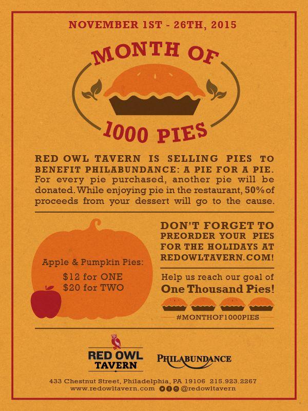 Red Owl Tavern 1000 Pies for Philabundance