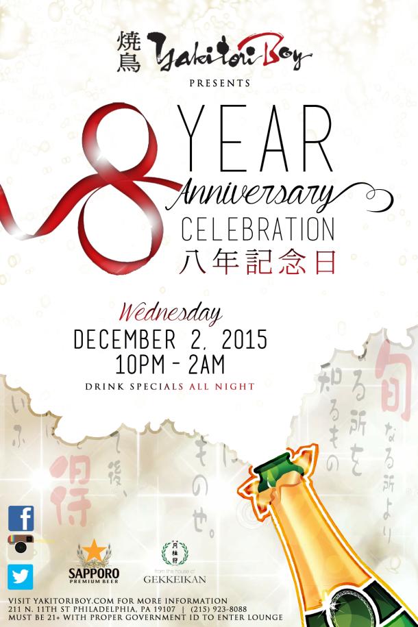 Yakitori Boy 8 Year Anniversary Celebration
