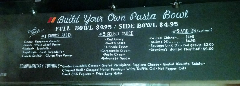 Marino's Pasta To Go Build Your Own Pasta Bowl Cherry Hill