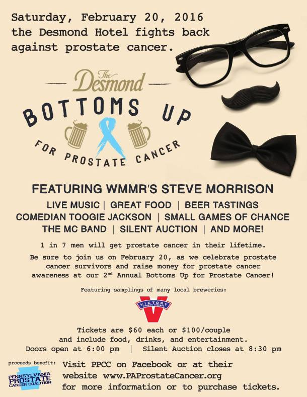 Bottoms Up for Prostate Cancer at The Desmond Hotel Malvern PA