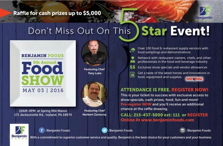 Benjamin Foods Food Show 2016