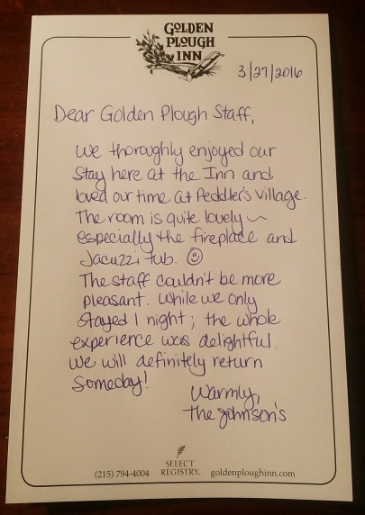 Golden Plough Inn Note