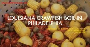 Louisiana Crawfish Boil in Philadelphia at SOUTH Restaurant on June8