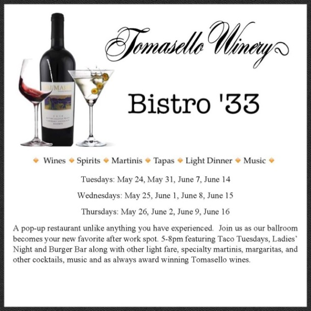Tomasello Winery Bistro 33
