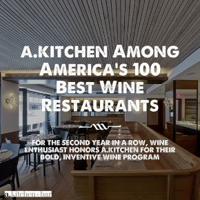 a.kitchen Among America's 100 Best Wine Restaurants