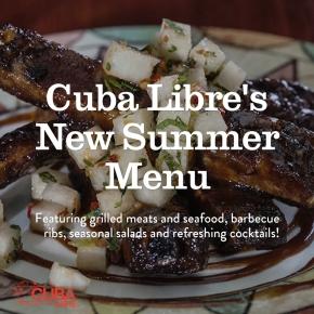 Cuba Libre Restaurant & Rum Bar Introduces Seasonal New MenuItems