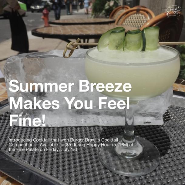 English Summer Breeze by Fine Palate Award Winning Cocktail
