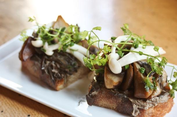 Mushroom Toast at the Twisted Tai