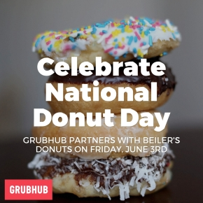 Grubhub Partners with Beiler's Bakery to Celebrate National Donut Day