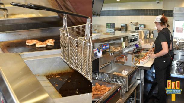 PDQ Cherry Hill Food Prep Area