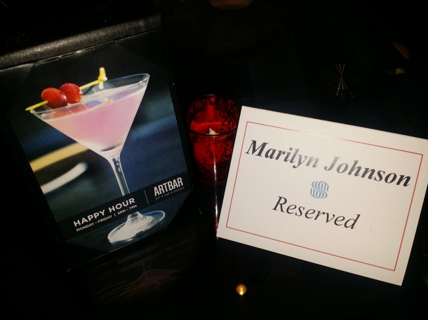 Reserved at Art Bar Sonesta Philadelphia