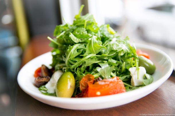 Insalata di Rucola baby arugula, roasted red pepper, asiago with balsamic vinaigrette