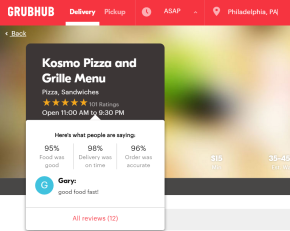 Grubhub Unveils New, Faceted Ratings and ReviewsSystem