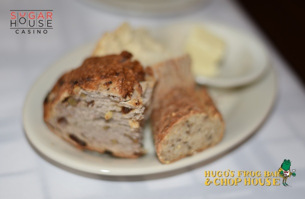 Bread at Hugo Frog Bar & Chop House at SugarHouse Casino