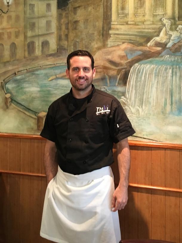 Chef Joe Burke, Jr. of TreVi BYOB in Glenside, PA