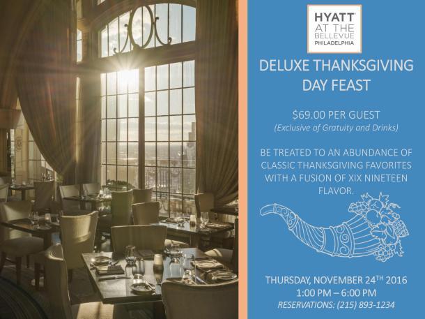 XIX Restaurant Thanksgiving Dinner