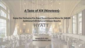 Taste of XIX (Nineteen) PrixFixe