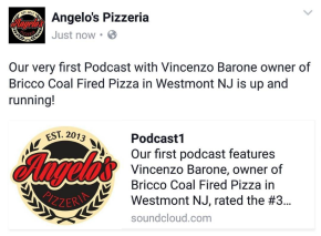 Danny DiGiampietro of Angelo's Pizzeria Launches Podcast, Breaking Bread withAngelo's