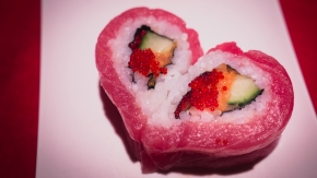 Heart Shaped Sushi and More at Yakitori Boy