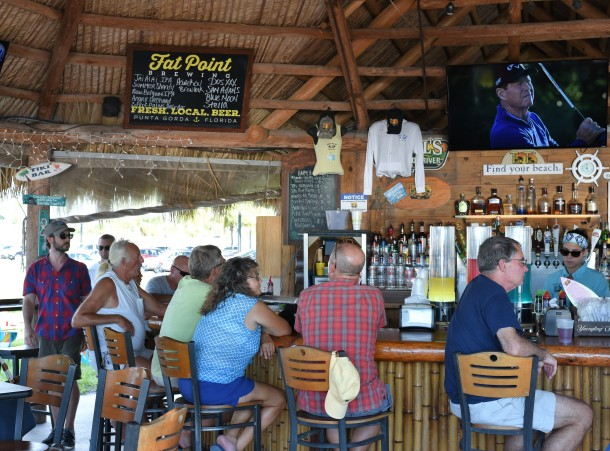 Inside Tiki Bar at Four Points Sheraton Punta Gorda Harborside