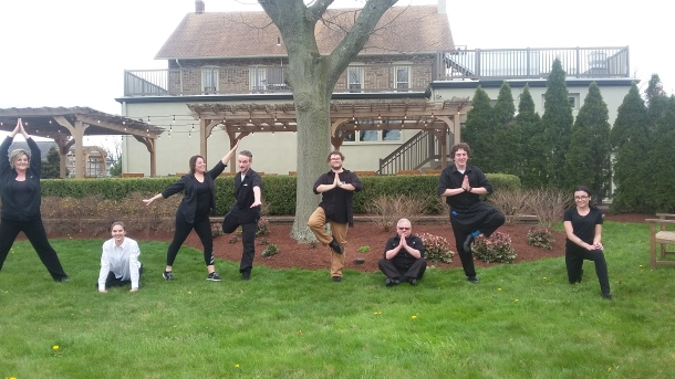 Yoga on the Lawn at Mainland Inn on Earth Day