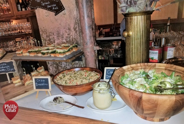 Harp & Crown Brunch: Salad and Mini Sandwich Station