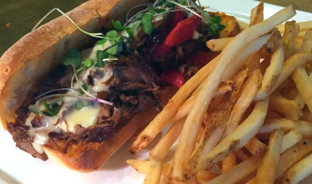Short Rib Cheesesteak at Square 1682