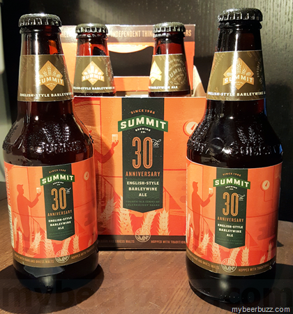 Summit Brewing Company's 30th Anniversary Barleywine Ale