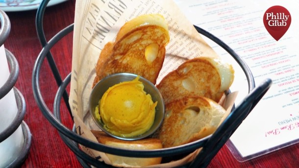 Warm Cuban Bread with Mango Butter