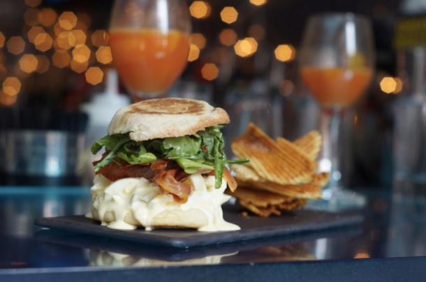 Deviled Egg Sandwich at Jet Wine Bar