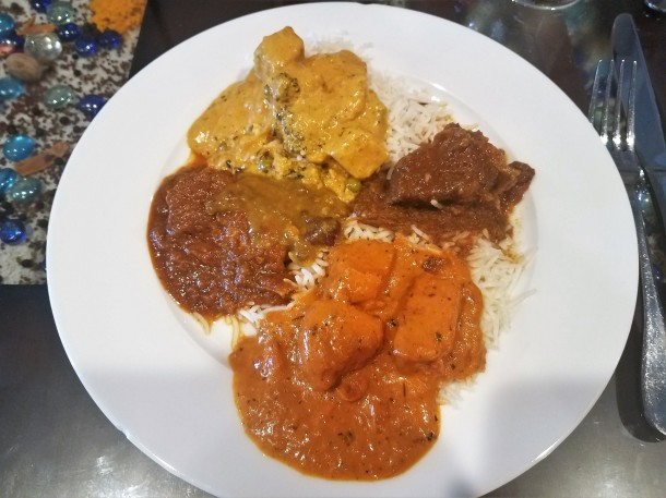 Monsoon Fine Indian Cuisine plate