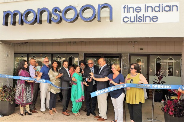 Monsoon Fine Indian Restaurant Ribbon Cutting