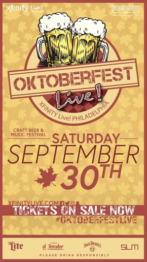 Oktoberfest Live! 2017 this Saturday at XFINITYLive!