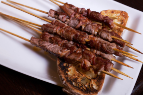 "Gran Caffe L'Aquila's ""Arrosticini"" Takes on Philly Cheesesteak"