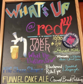 Redz Restaurant and Forgotten Boardwalk Brewing Beer Pairing Dinner