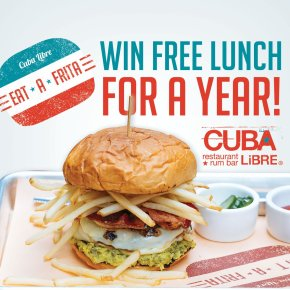 Cuba Libre Restaurant & Rum Bar to Award One Lucky Winner Free Lunch for aYear