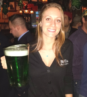 Green Beer & Iggletini at McGillin's AleHouse