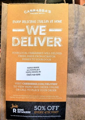Carrabba's Italian Grill Launches Delivery Service