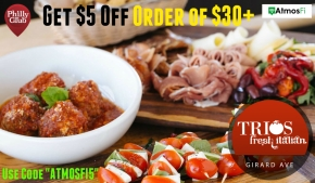 Get $5 Off Your Order at Trios Fresh Italian on Girard Avenue